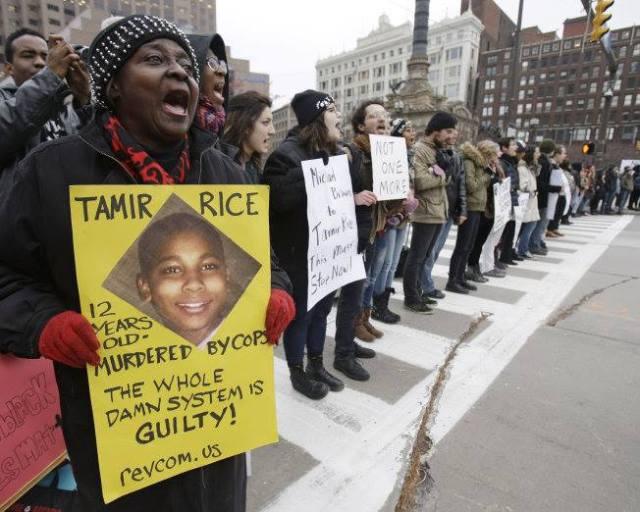 Cleveland Tamir Rice vigil