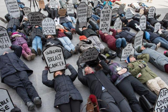 healthcare die-in